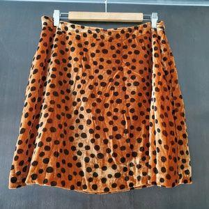 Madewell • Leopard Dot Velvet Circle Mini Skirt